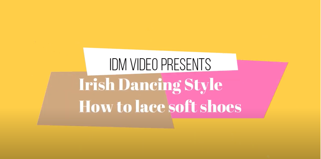 How to lace soft shoes